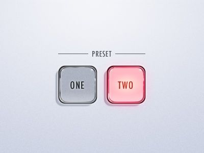 Presets one & two buttons