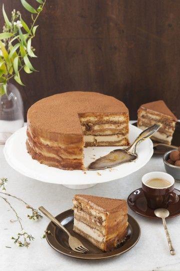 #tort #tiramisu z kawowymi rodzynkami #coffee #raisins #cake #delektujemy