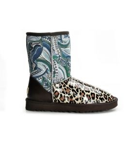 UGG Classic Short Boots Leopard Cyan 5825 $ 139.00 http://www.theonfoot.com/