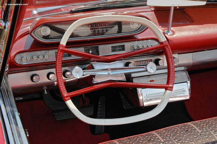 1960 Plymouth Fury square steering wheel and push button transmission