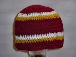 NFL Football Hat Crochet ~  Hail to the Redskins!