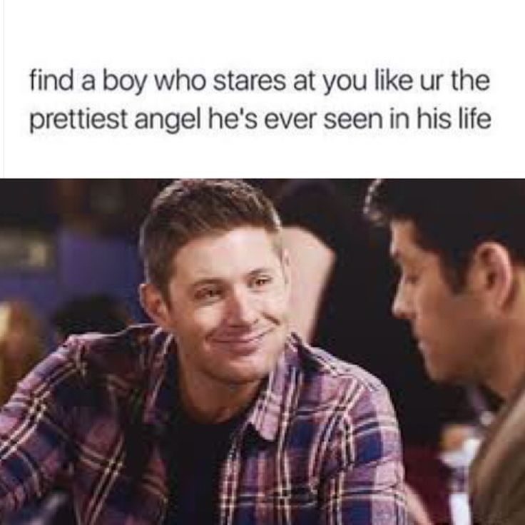 I don't ship Destiel but that's funny