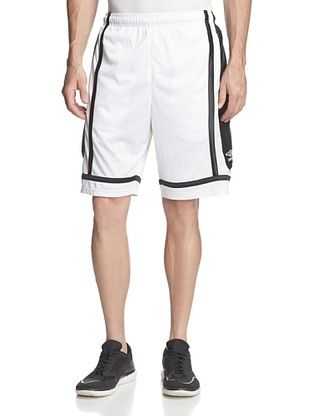 50% OFF Umbro Men's Pieced Fashion Shorts (White/Black)
