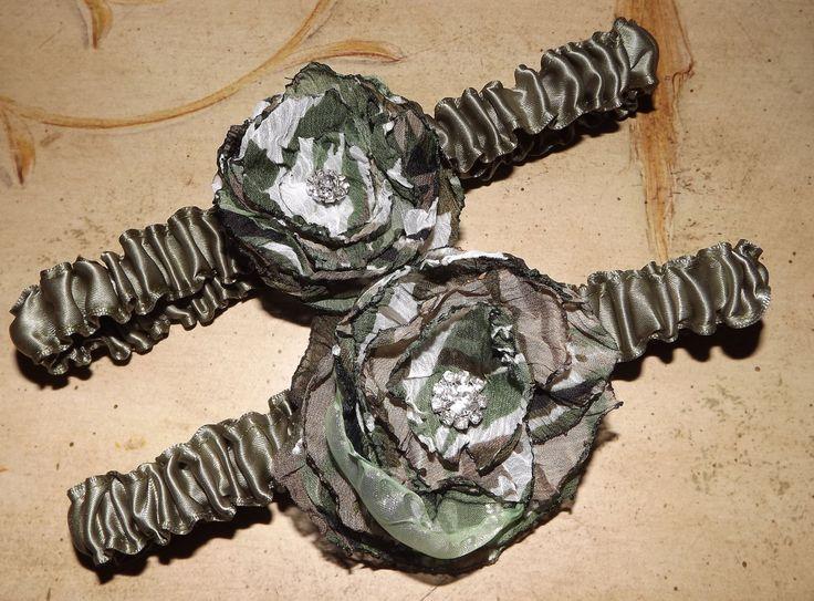 Camouflage Wedding Garter Set  Camo Wedding Garter by Weddingzilla, $27.50