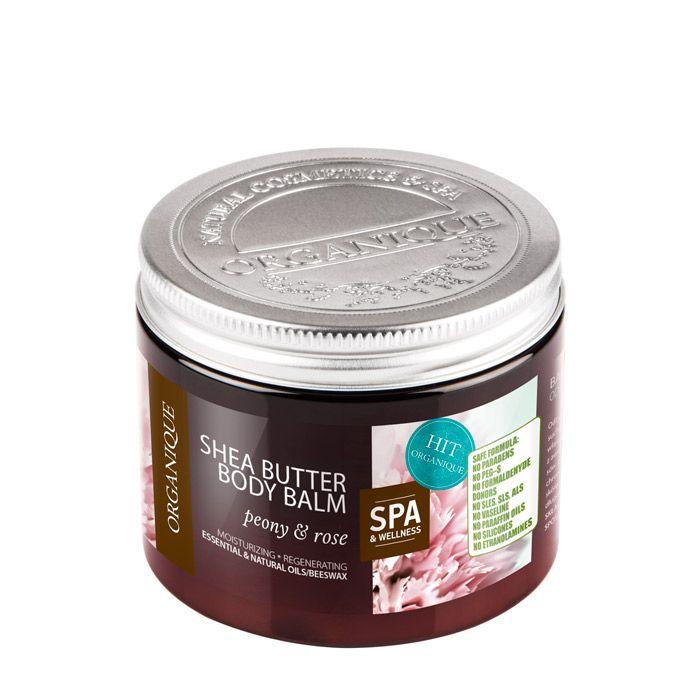 Balsam do ciała z masłem Shea Piwonia i Róża 200 ml - Balsamy - Ciało - Organique