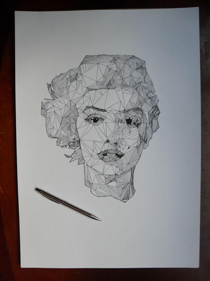 Marilyn Monroe by me, Juliana Hernández. Un interesante trabajo, es la replica de un trabajo.
