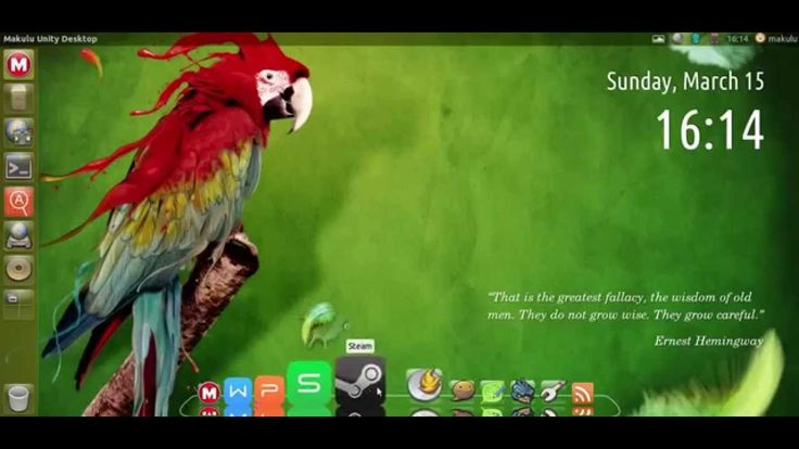 MakuluLinux Unity Desktop Early Alpha Preview