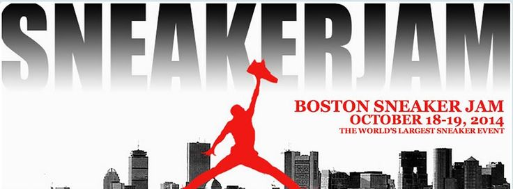 Boston Sneaker Jam  October 18-19, Seaport World Trade Center  Any sneakerheads in Boston? (There should be, as it's a hotbed for the footwear industry.) Sneaker Jam is bringing rare shoes and memorabilia, a sneaker trading floor, a street art gallery, musicians and more the the Seaport World Trade Center for two days of celebrating footwear.
