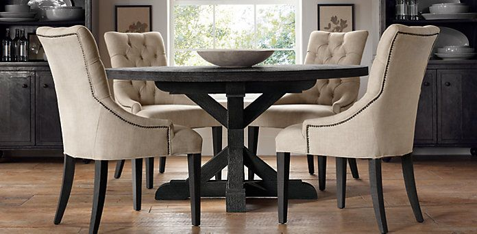 round tables restoration hardware for the home pinterest satin