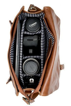 Multitasking Shoulder / Camera Bag with Removable Compartments | A Beautiful Mess Would love a cute camera bag!