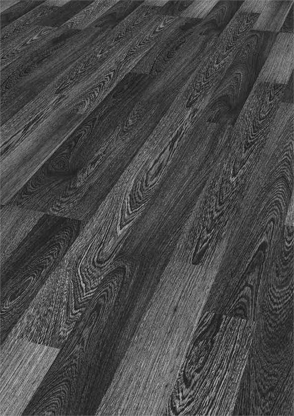 Black Laminate Flooring on oak kitchen cabinets with dark floors
