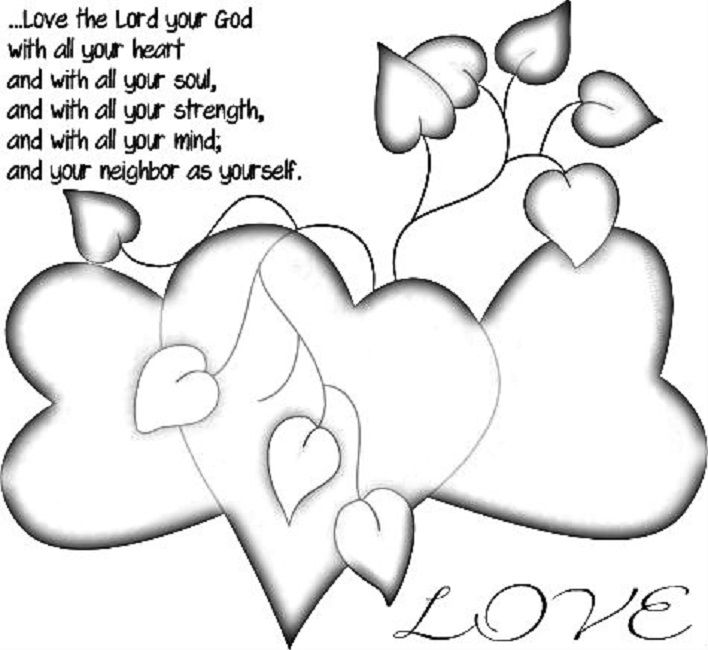 Love The Lord Coloring Pages