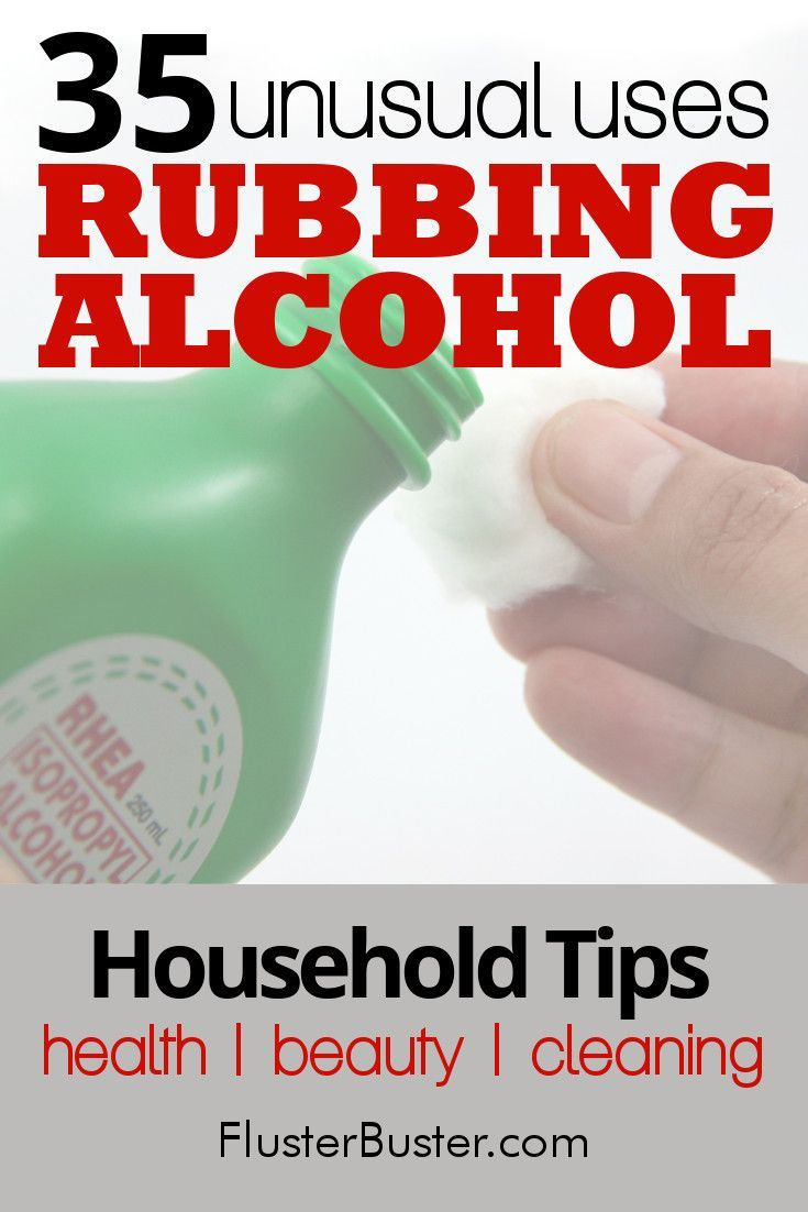'35 Unusual Tips Using Rubbing Alcohol...!' (via Fluster Buster)