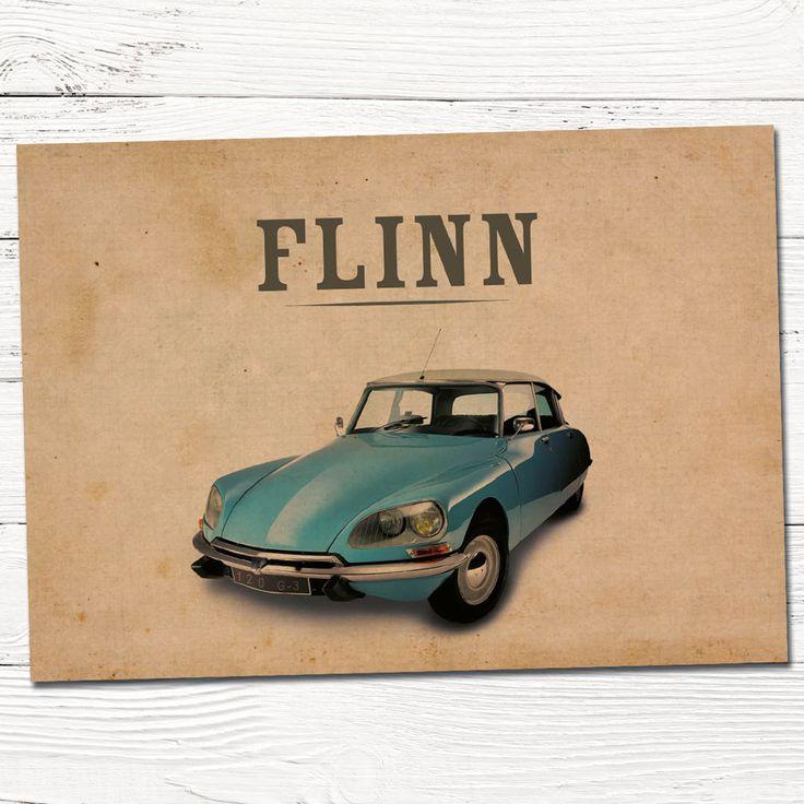 vintage geboortekaartje retro auto | ontwerp op maat | grafisch | ontwerp | babykaartjes | jongen