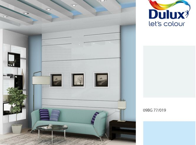 Build an accent in your room with pale and somber blues for a calming effect sea blue is 59BG 70/116