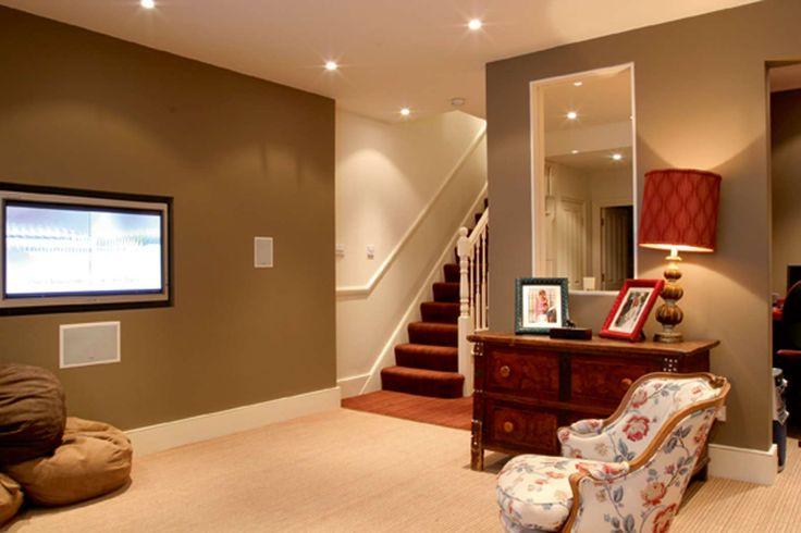 white house basement house plans with basements hubbys mans room pinterest basements gray basement and basement house plans - Designs For Basements