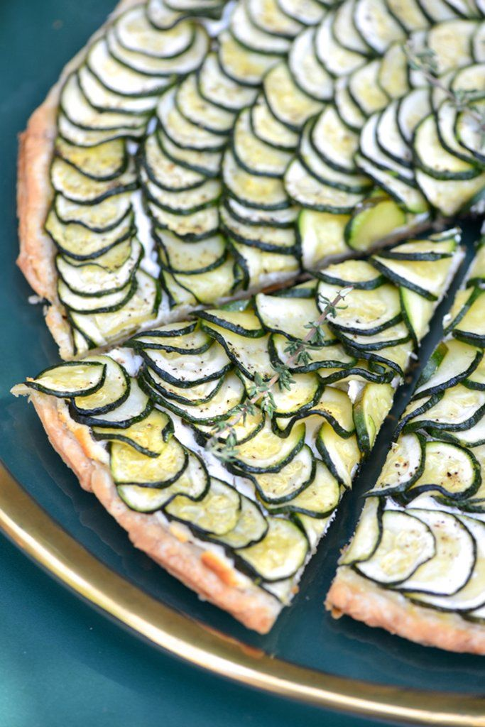 Get the recipe: zucchini and goat cheese tart Image Source: M Loves M