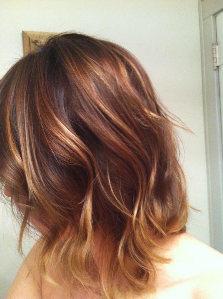 Hair Color Blonde Warm Brown Ombr Wavy Bob Warm