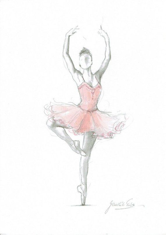 Set of 3 Prints, Ballerina Art, Pink Ballerina, Watercolor Ballet, Ballerina Drawing, Pink Tutu Dancer, Ballet Art Print, Ballerina Painting