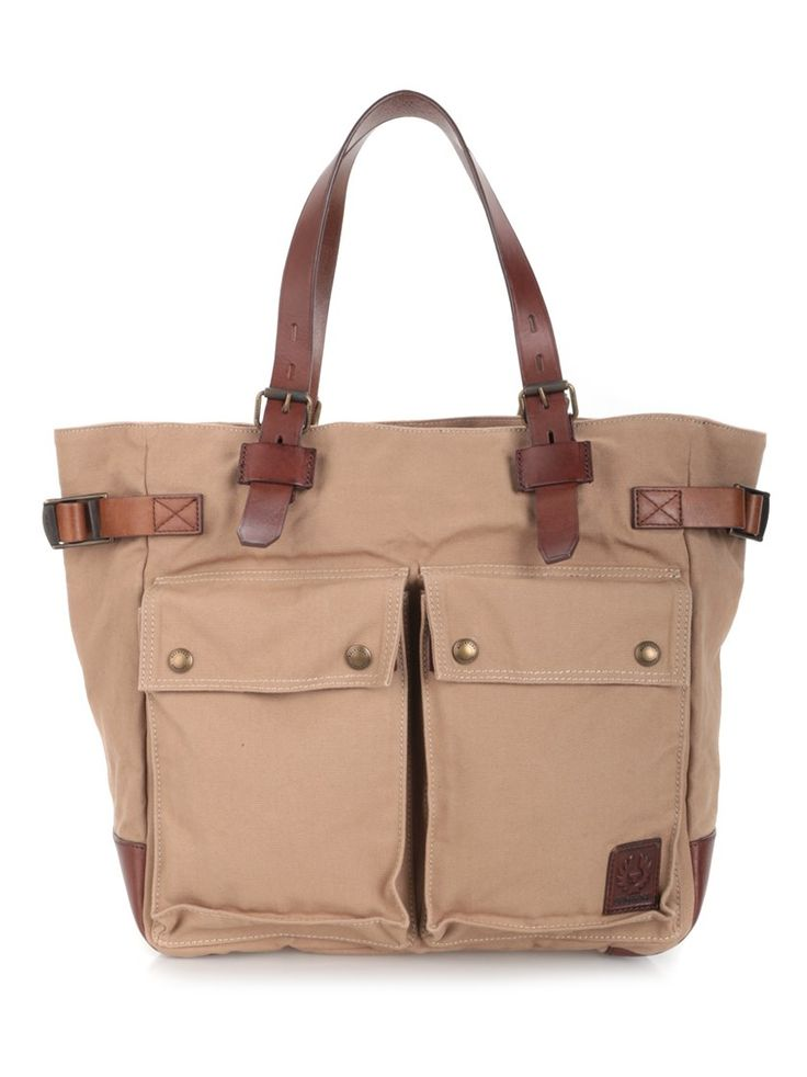BELSTAFF Cargo Pocket Tote. #belstaff #bags #leather #hand bags #tote #cotton #