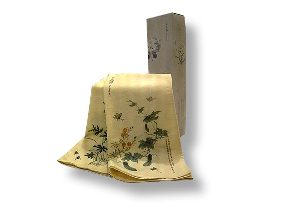 "Handkerchief ""草蟲圖 , Flowers and Insects"""