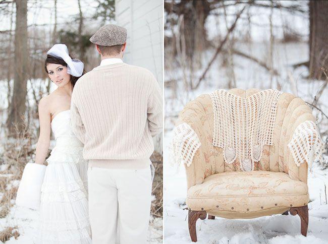 Outdoor winter  Weddings | Outdoor Whimsical Winter Wedding Inspiration | Green Wedding Shoes ...