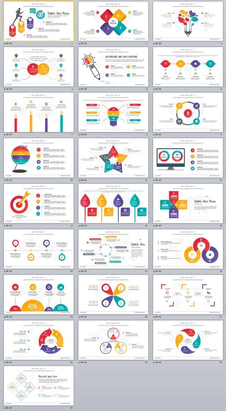 Best 25 powerpoint maker ideas on pinterest teacher resources 25 infographics multicolor powerpoint template alramifo Gallery