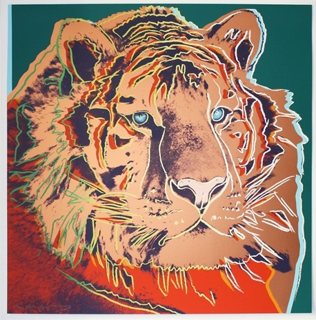 Andy  Warhol:   Siberian Tiger (from Endangered Species)
