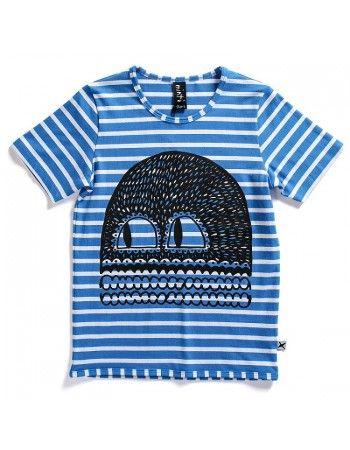 Minti | Face - Rad Tee - Biro Blue Stripe