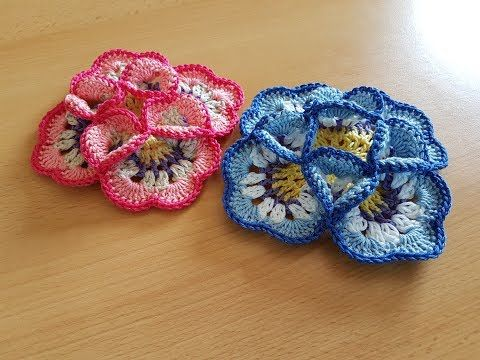 Crocheted flower 59 - YouTube