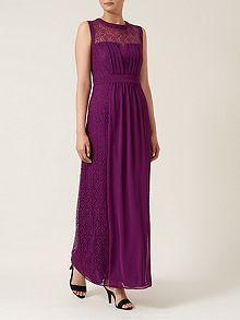 Wine Lace Maxi Dress