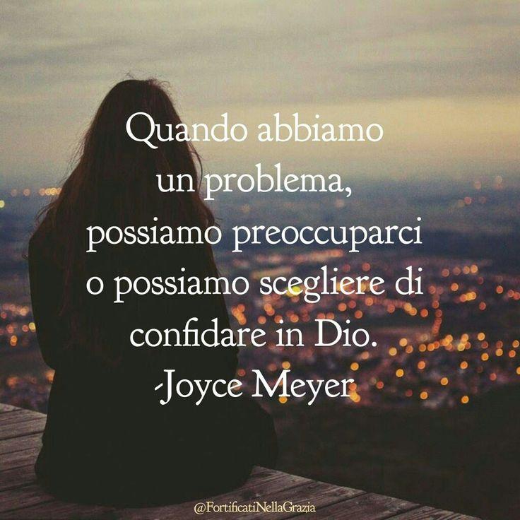 #preoccupazioni #JoyceMeyer #citazioni #frasicristiane #motivazione #Gesù #incoraggiamento #fede #amore #Diotiama #devotional #dailydevotion #GrazieGesù #fortificatinellagrazia
