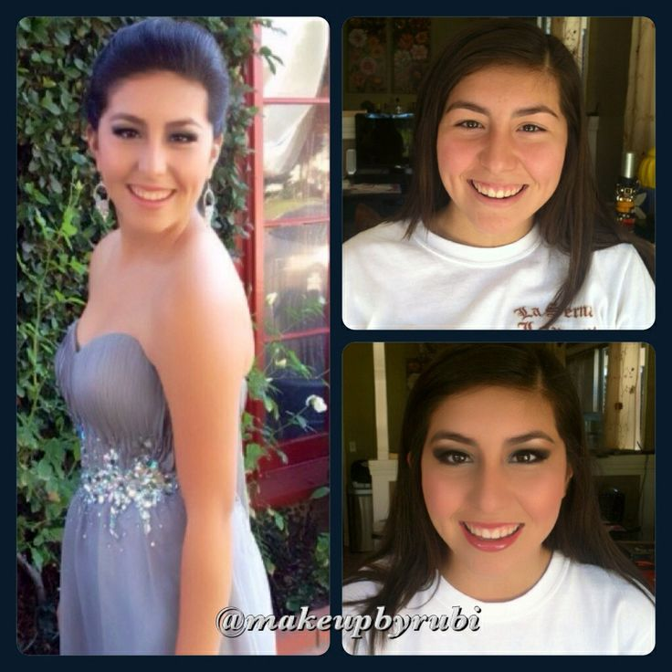 Sophomore Hannah- La Serna High School Homecoming  Before and After Makeup by Rubi www.makeupbyrubi.com