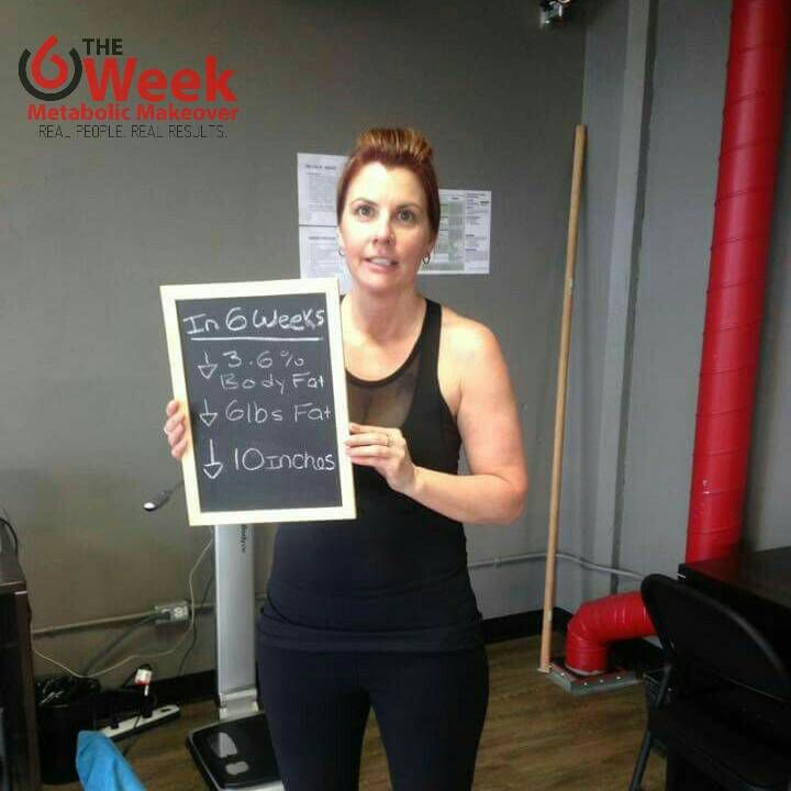 Kathy crushed her first 6 weeks at 360 by dropping 3.6% body fat & shedding 10 inches (couple pant sizes). Love it!