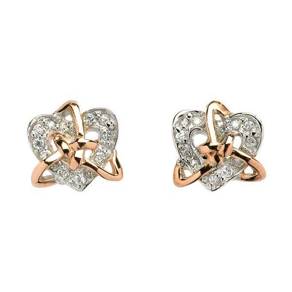Heart and Trinity Knot Earrings - Celtic Earrings - Rings from Ireland