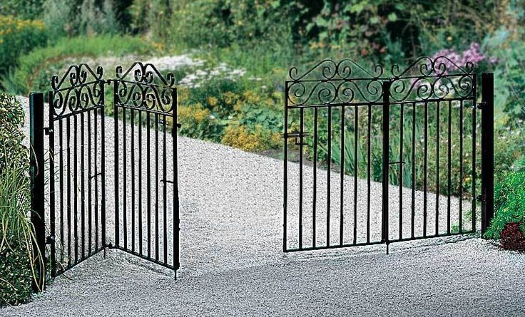 Marlborough Wrought Iron Style Bi Folding Metal Driveway Gates