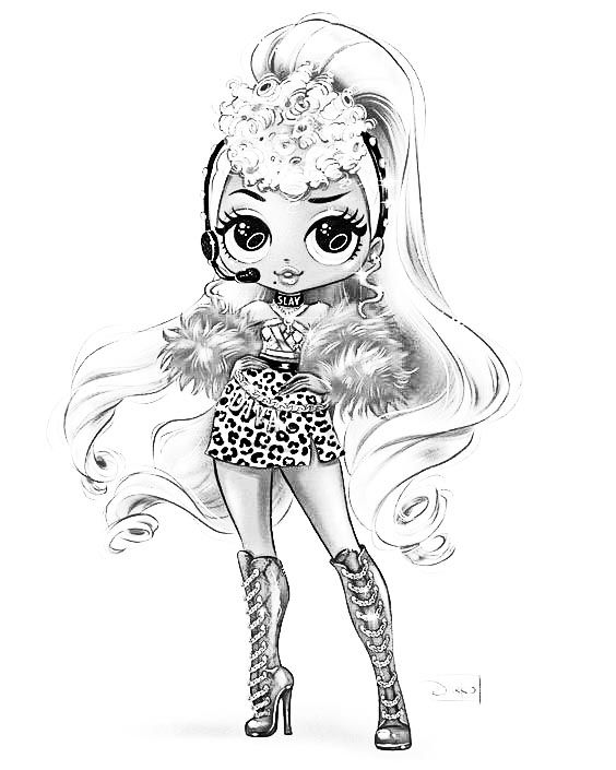 Lol Surprise Omg Swag Fashion Doll Coloring Page Horse Coloring Pages Barbie Coloring Pages Cute Coloring Pages