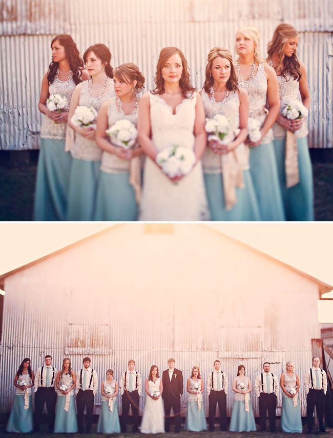 Um I love EVERYTHING about these photos.  The brides dress, her choice of colors, the bridemaids dresses, the groomsmans attire, the setting.  Just like everything about this is beautiful!