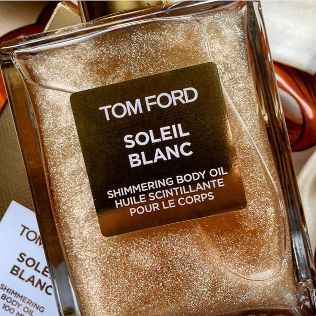 tom ford soleil blanc shimmering body oil. gives you instant summer skin!