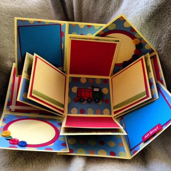 Little Boy Explosion Box Album  Adorable!