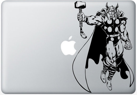 Thor macbook decals mac decals macbook pro decal by reindeernose 6 99