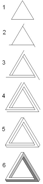 penrose triangle how to draw - Google Search