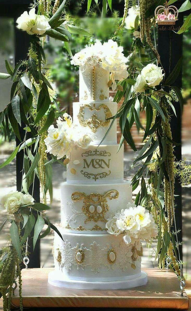 Suspended Baroque Wedding Cake