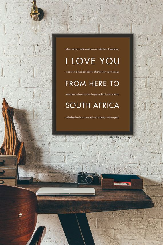 This unique wall art print will bring the beauty of South Africa to you. Shown…