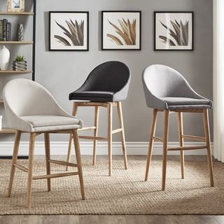 Shop for Natoma Natural Mid-Century Modern Swivel Wood Stool (Set of 2) iNSPIRE Q Modern. Get free shipping at Overstock.com - Your Online Furniture Outlet Store! Get 5% in rewards with Club O! - 22554112