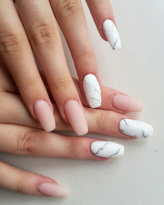 Inspiration from fashionable and completely different marble nails #different #…