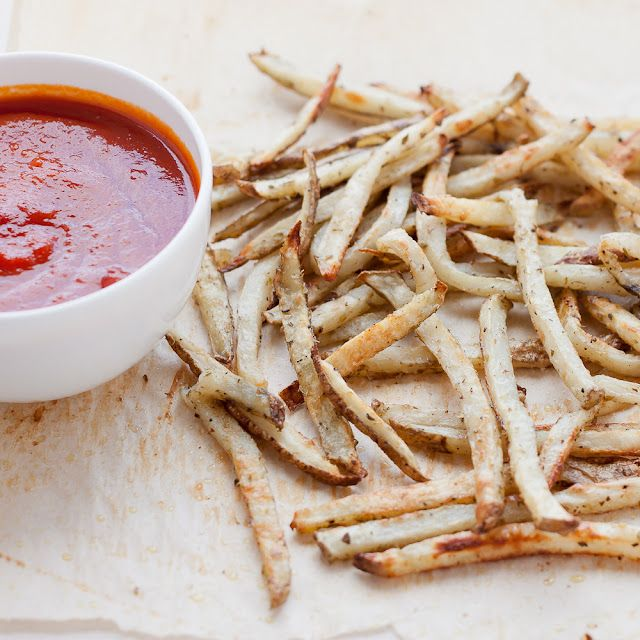 Perfect Oven Fries with Homemade Ketchup