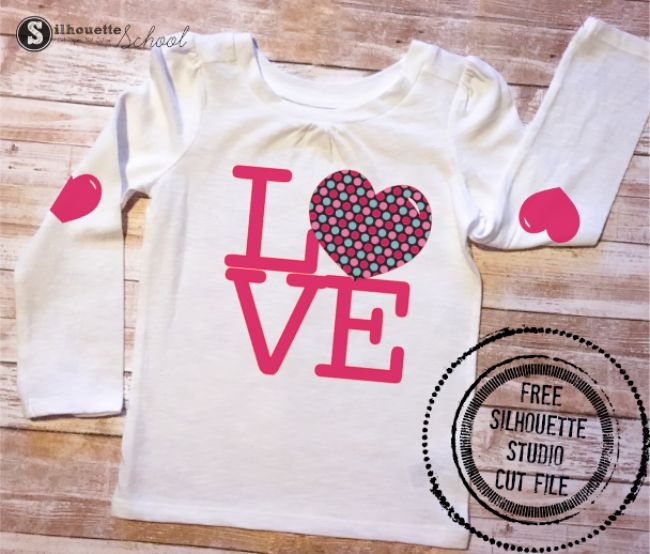Set of free Valentine's Day Silhouette cut files. The coordinating set of designs is perfect for boys and girls!