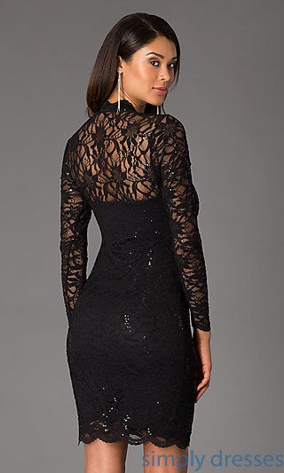 Shop Simply Dresses for Marina cocktail dresses under $100. Wear long sleeve lace dresses to sophisticated wedding guest looks.