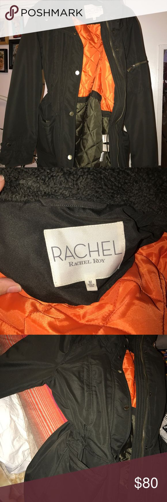 Rachel Roy winter jacket Brand new Rachel Roy jacket, great for the cold season! Used once. No flaws! There's an adjustable strap on the inside if you would like to make it lose or tight. Rachel Roy Jackets & Coats Trench Coats